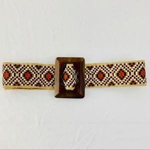 Anthropologie NEST Brand Earthy Multicolored Belt